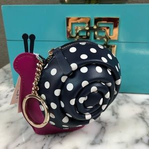 NWT Kate Spade Enchanted Forest Snail Coin Purse